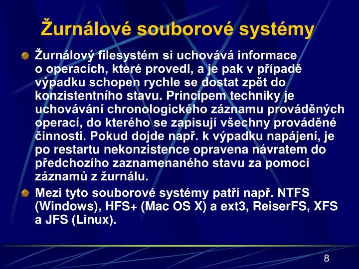 Žurnálové souborové systémy