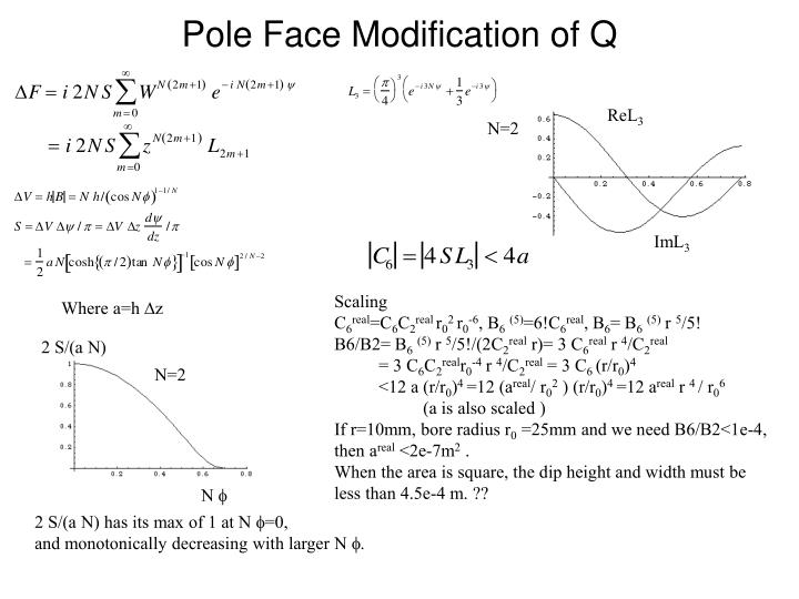 Pole face modification of q