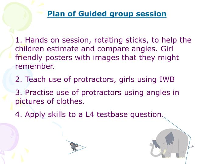 Plan of Guided group session