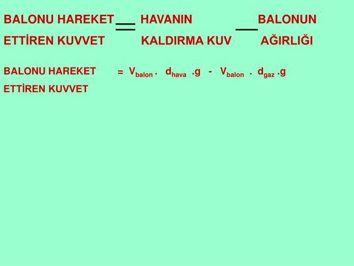 BALONU HAREKET        HAVANIN                    BALONUN