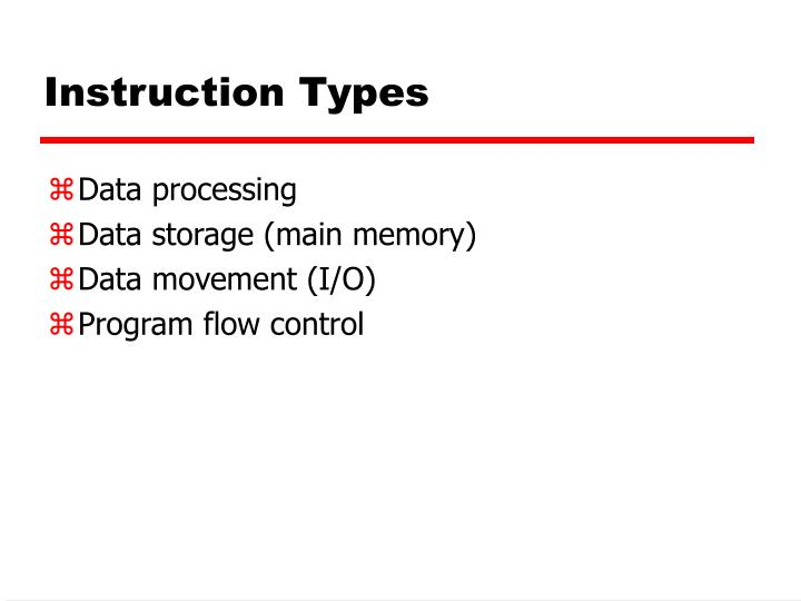 Instruction Types