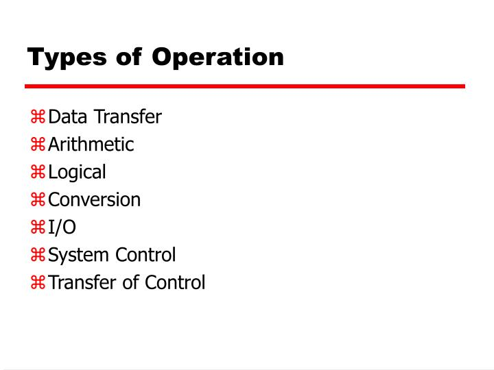 Types of Operation