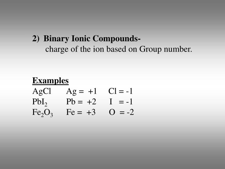 Binary Ionic Compounds-