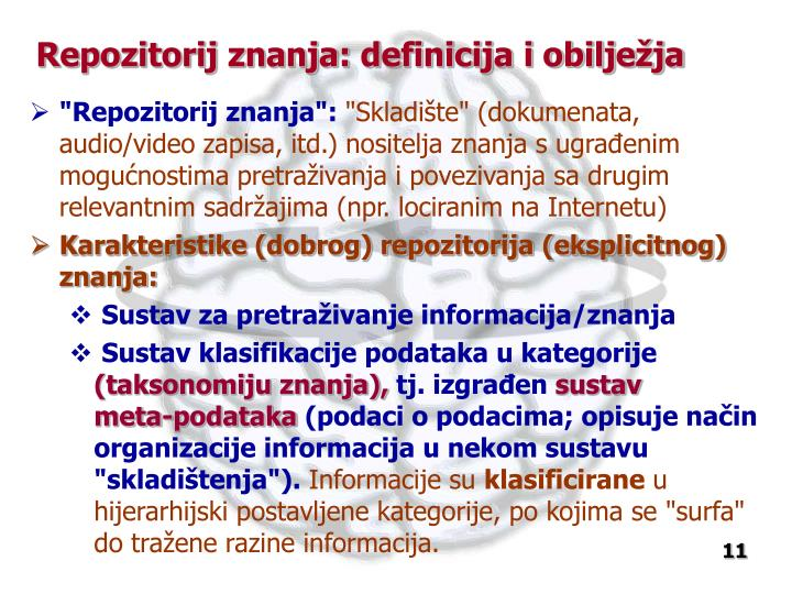 Repozitorij znanja: definicija i obilježja