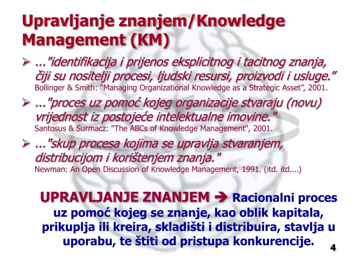 Upravljanje znanjem/Knowledge Management (KM)