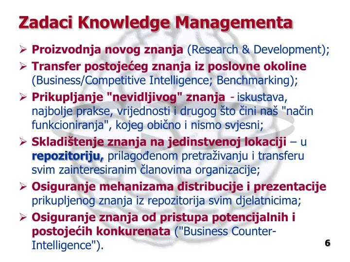 Zadaci Knowledge Managementa
