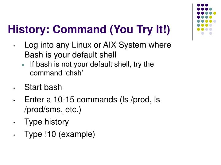 History: Command (You Try It!)