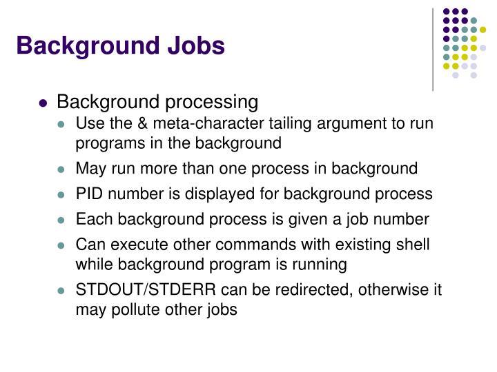 Background Jobs