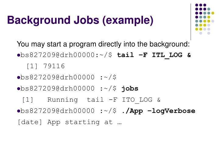 Background Jobs (example)