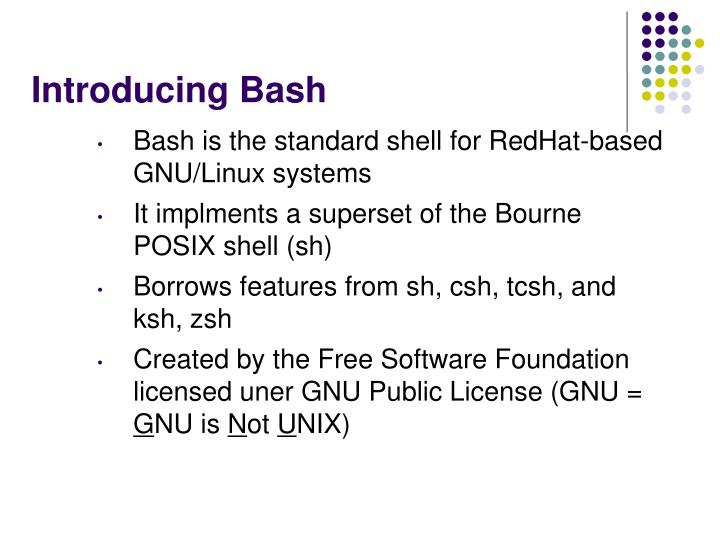 Introducing Bash