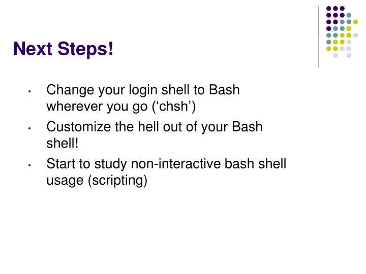 Next Steps!