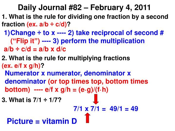 Daily Journal #82 – February 4, 2011