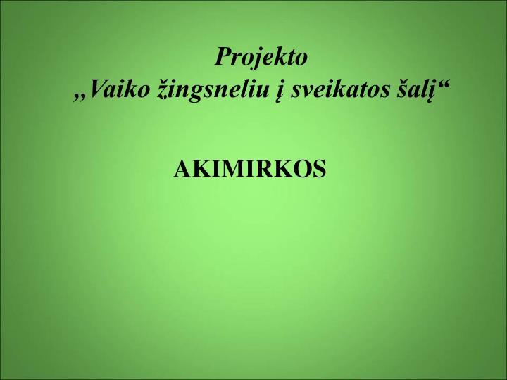 Projekto