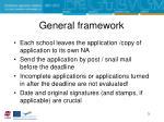 general framework1
