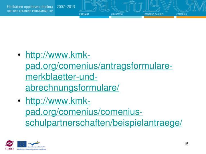 http://www.kmk-pad.org/comenius/antragsformulare-merkblaetter-und-abrechnungsformulare/