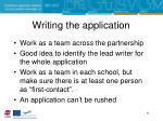 writing the application
