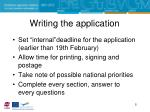 writing the application1