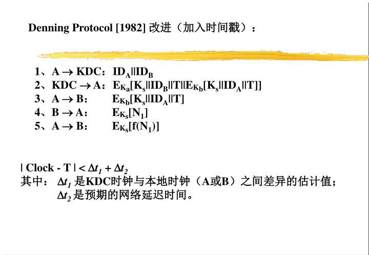 Denning Protocol [1982]