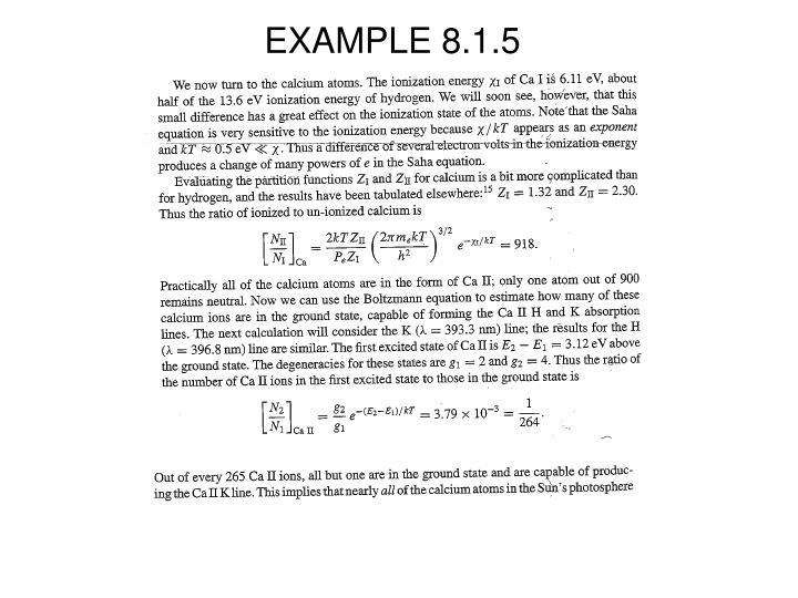 EXAMPLE 8.1.5