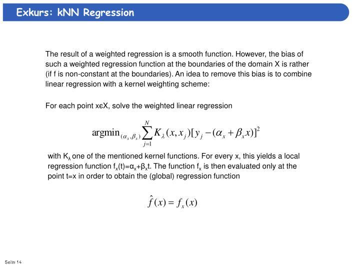 Exkurs: kNN Regression