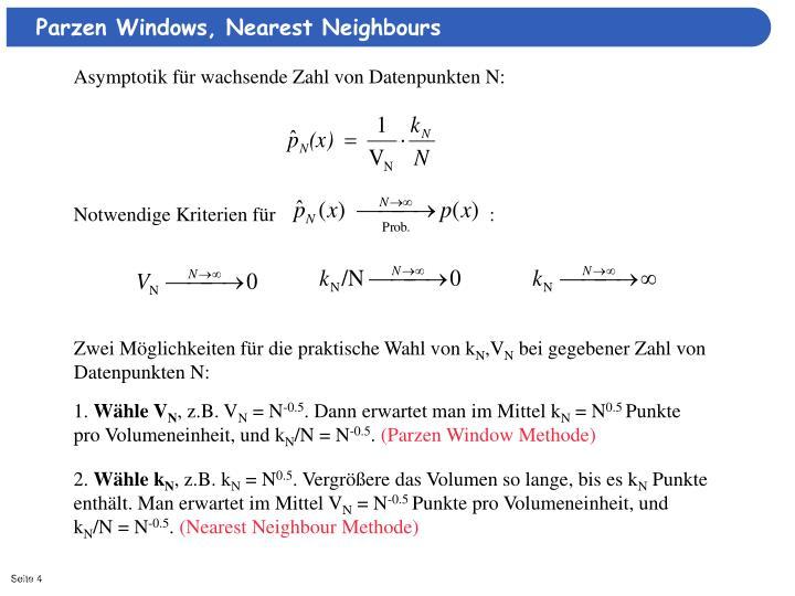 Parzen Windows, Nearest Neighbours