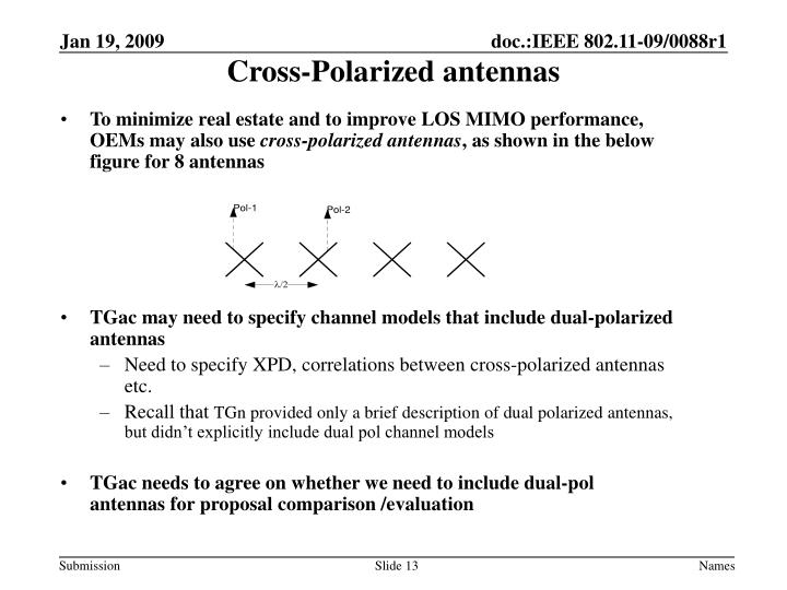 Cross-Polarized antennas