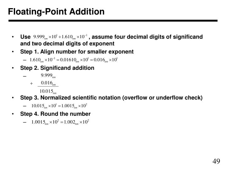 Floating-Point Addition