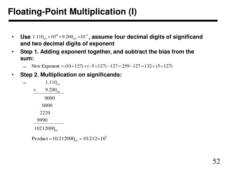 Floating-Point Multiplication (I)