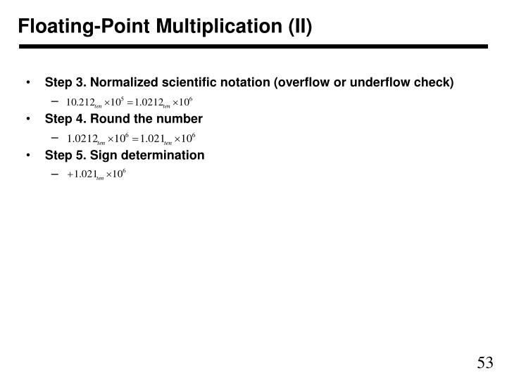 Floating-Point Multiplication (II)