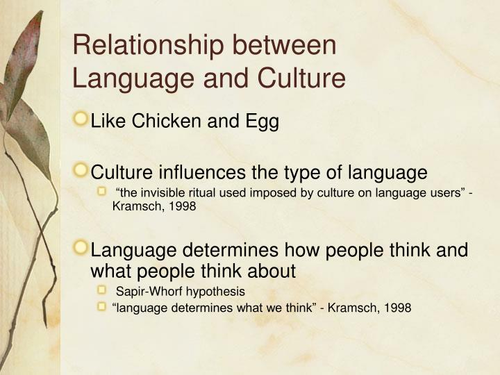 society and its relationship with language Culture-based education and its relationship to student outcomes culture-based education and its focus from the home to differences in language and.