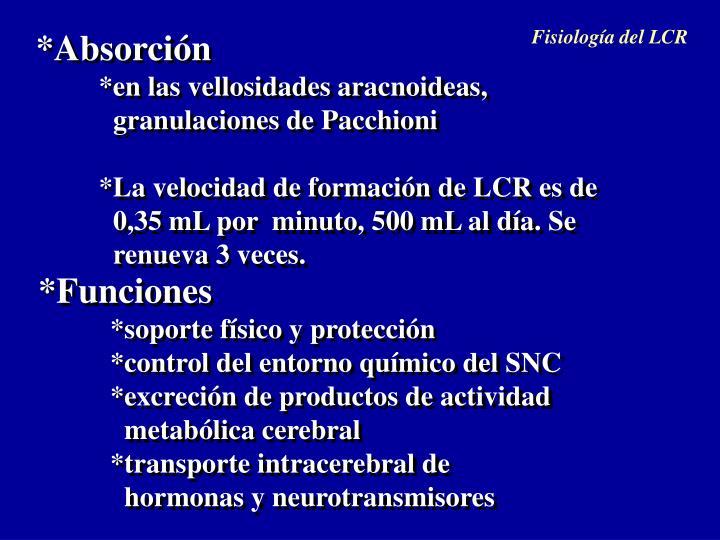 Fisiología del LCR