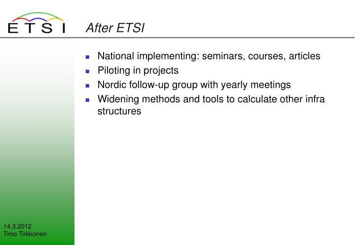 After ETSI