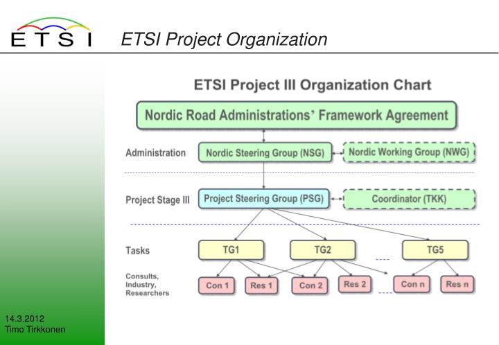 ETSI Project Organization
