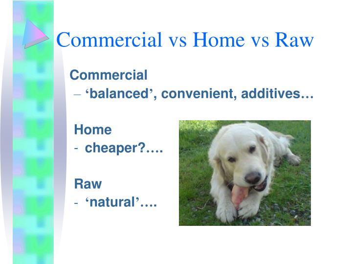 Commercial vs Home vs Raw