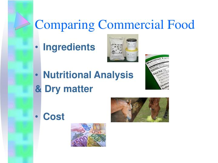Comparing Commercial Food