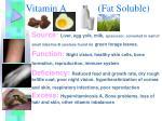 vitamin a fat soluble