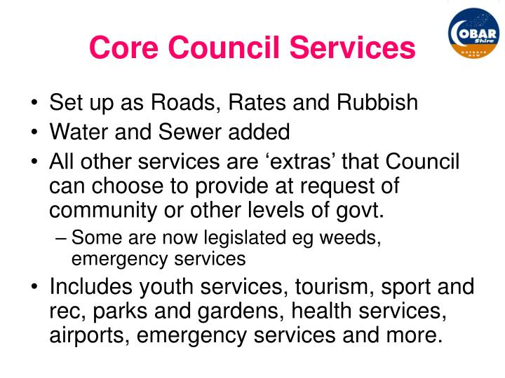 Core Council Services