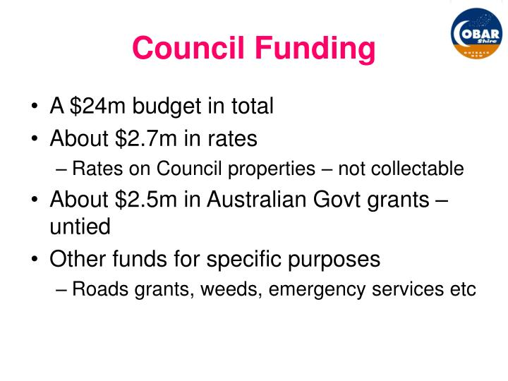 Council Funding
