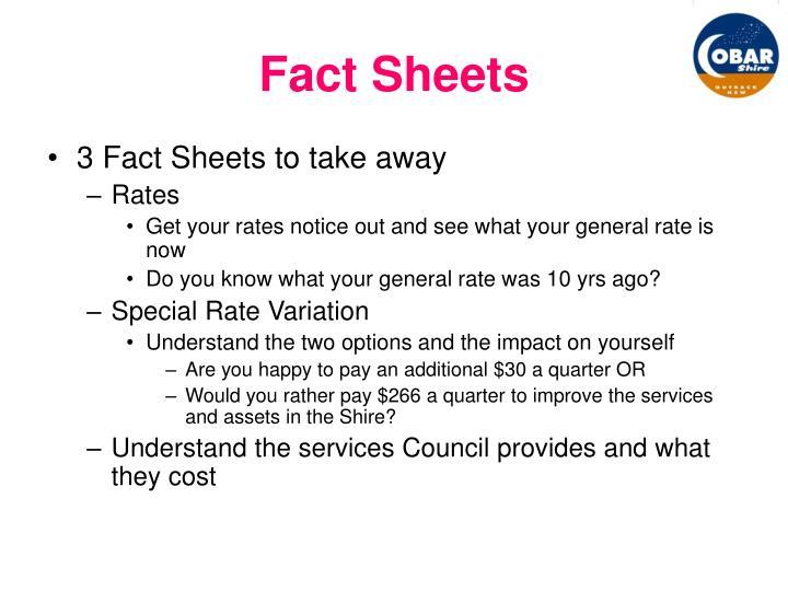 Fact Sheets
