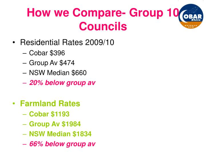 How we Compare- Group 10 Councils
