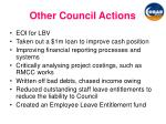other council actions