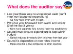 what does the auditor say