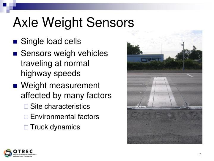 Axle Weight Sensors