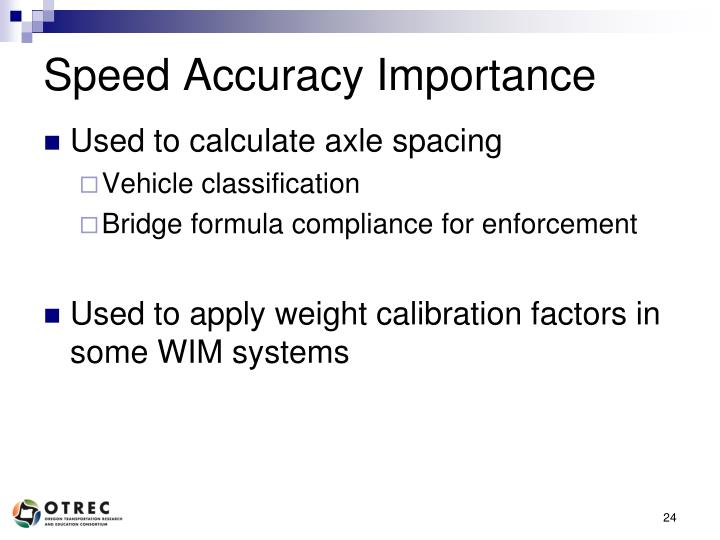 Speed Accuracy Importance