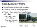 speed accuracy metric
