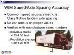 wim speed axle spacing accuracy