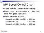 wim speed control chart