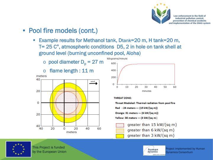 Pool fire models (cont.)