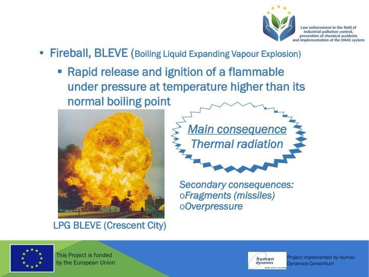 Fireball, BLEVE (