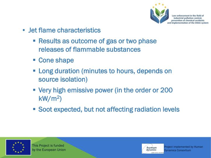 Jet flame characteristics